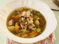 Lentil Soup with Smoked Pork and Cabbage Sausage recipe