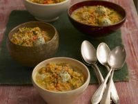 Lentil Stew with Chicken Meatballs recipe