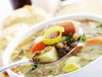 Lentil Stew with Sausage recipe