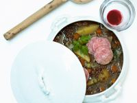 Lentil Stew with Vegetables and Sausage recipe