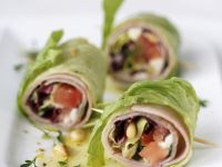 Lettuce and Ham Wraps recipe