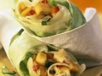 Lettuce Rolls Stuffed with Tofu recipe