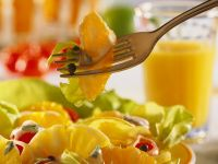 Lettuce Salad with Fruit and Yogurt Dressing recipe