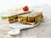 Lettuce, Tomato and Cheese Sandwich on Whole-grain Bread recipe