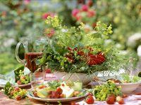 Lettuce with Fruit Salad recipe