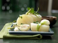 Limburger Cheese with Roasted Spring Onions recipe