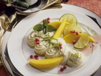 Lime Mousse with Fruit recipe