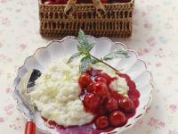 Lime Rice Pudding with Cherry Compote recipe