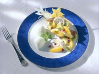 Lime Sorbet with Pineapple Fruit Cups recipe