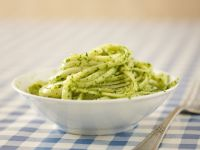 Linguine Pasta With Basil Pesto recipe