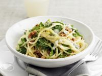 Arugula and Nutty Pasta Bowl recipe