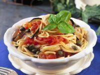 Linguine with Tomatoes and Swordfish recipe