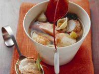 Lobster Broth with Pasta recipe