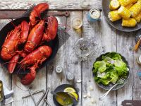 Lobster Cooked in Wine recipe