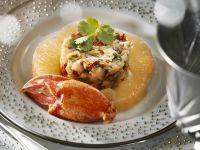 Lobster Parfait with Cilantro and Grapefruit recipe