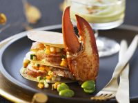 Lobster Stack with Vegetable Viniagrette recipe