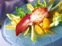 Lobster with Endive Salad with Orange Sauce recipe
