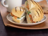 Lox and Cream Cheese Bagels recipe