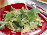 Mache Lettuce Salad with Cheese and Olives recipe