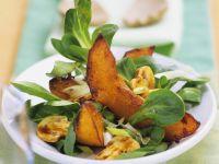 Mache Salad with Pumpkin and Mushrooms recipe