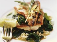 Mackerel Fillets with Spinach recipe