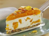Mandarin Cheesecake with Granola Crust recipe