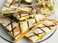 Fruit and Soft Cheese Toasted Tortillas