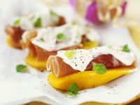Mango and Ham Appetizers recipe