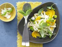 Mango and Leek Pasta recipe
