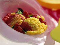 Mango and Raspberry Sorbet