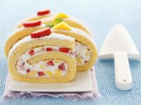 Mango and Strawberry Roulade with Filling recipe