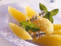 Mango Ice Cream with Oranges recipe