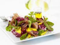 Tropical Fruit and Proscuitto Salad recipe