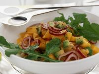 Mango Salad with Avocado, Arugula and Red Onion recipe