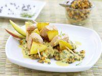 Mango Turkey Skewers with Lentil Salad recipe