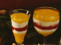 Mango Yogurt Raspberry Cup recipe