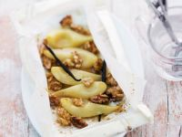 Maple Syrup, Vanilla, and Walnut Pears recipe