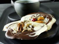 Marbled Chocolate with Nuts and Cherries recipe
