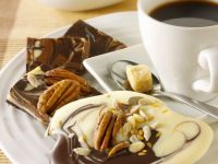 Marbled White, Dark and Milk Chocolate Candy with Nuts recipe