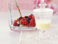 Marinated Berries with Custard recipe