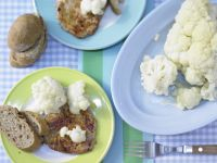 Marinated Cauliflower with Grilled Steaks