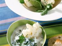 Marinated Cauliflower with Yogurt Dip recipe