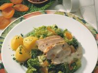 Marinated Chicken Breasts with Cabbage recipe