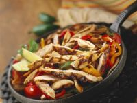 Marinated Chicken Strips with Peppers