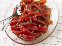 Marinated Herby Peppers recipe