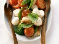 Marinated Mozzarella, Tomato and Basil Salad recipe