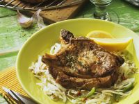 Marinated Pork Steaks and Coleslaw recipe
