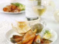 Marinated Salmon with Mustard Sauce recipe