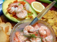 Seafood-filled Avocado Halves recipe