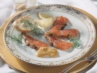 Marinated Steelhead Trout with Mustard Cream recipe
